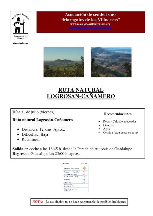 Ruta Logrosán-Cañamero