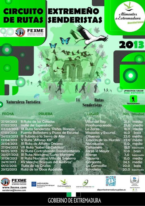 Circuito Extremeño de Rutas Senderista 2013
