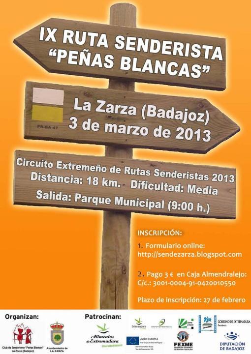 Cartel Peñas Blancas 2013