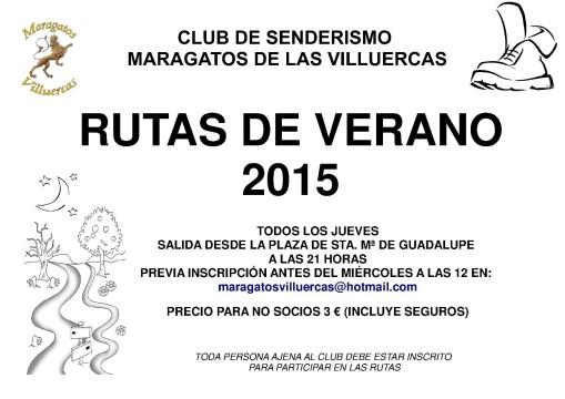 Cartel Rutas Verano 2015